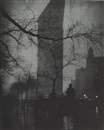 The Flatiron building - Evening, New York by Edward Steichen