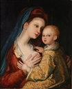 Madonna with the child by Barthel Beham