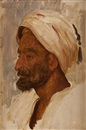 An Arab's head, Tangier (study) by Lord Frederick Leighton