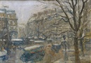 Paris, carrefour animé by Louis Abel-Truchet