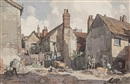 Backs near Lord's yard. Fore Street, Ipswich by Leonard Russel Squirrell