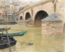 The Pont Marie, Paris by Frits Thaulow