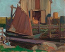 Fish houses, Petite Rivière, N.S. by James Edward Hervey MacDonald
