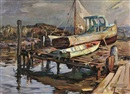 Gloucester dry dock by Marian Williams Steele