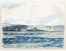 Yachting scene by Edward Hopper