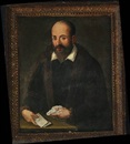 A bearded man holding a document and a handkerchief by  Titian (Tiziano Vecelli)