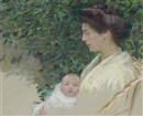 Mother and baby (Alice Grew and Anita) by Lilla Cabot Perry