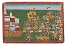 Battle between Banasura and Krishna begins (from Bhagavata purana series) by  Anonymous-Nepalese (18)