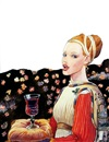 The art of wine (originale per manifestazione vinicola internazionale) by Milo Manara
