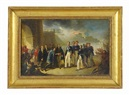 The arrival of Carlo Alberto Amedeo di Savoia), King of Sardinia 1831-1849, in Cagliari by Giovanni Marghinotti
