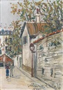 Rue Saint Vincent by Maurice Utrillo