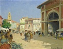 Market square, Albasete, Spain by Paul Emile Lecomte