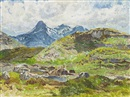 The Cuillins Skye by Mary Nicol Neill Armour