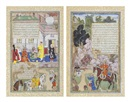 The hunter king kills the woodcutter (+ The king in his palace with courtiers, verso; 2 works) by  Anonymous-Indian (16)