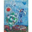 Au-dessus de Saint-Paul by Marc Chagall