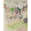 Village de Normandie by Raoul Dufy
