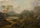 Seelandschaft mit Figuren- und Tierstaffage by Thomas Gainsborough