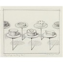 Untitled (Cake window) by Wayne Thiebaud