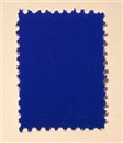 Untitled - ikb pigment on postal stamp by Yves Klein
