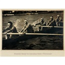 Italienischer Achter / Italian rowing eight (from the portfolio Olympia) by Leni Riefenstahl