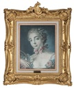 Tête de femme ou tête de flore (after François Boucher) by Louis Marin Bonnet