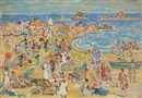 View Along New England Coast by Maurice Brazil Prendergast
