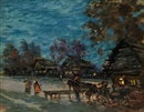 Darkening evening by Konstantin Alexeievitch Korovin