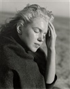 Marilyn Monroe with shawl; Norma Jean in sweater at the beach (2 works) by Andre de Dienes