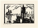 Leuchtbake pl.1 (from Ten Woodcuts by Lyonel Feininger) by Lyonel Feininger