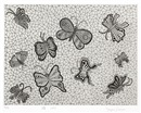 Butterflies (sold with 26B&C; set of 3) by Yayoi Kusama
