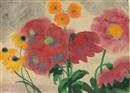 Blumen mit roter und gelber Blüten (Still life with red and yellow blossoms) by Emil Nolde