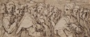 A frieze showing the heads of a group of men by Giorgio Vasari