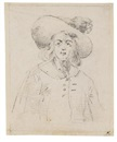 Study of an elegant young man in a hat by David Teniers the Younger