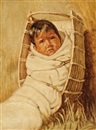 Annie - White Blanket by Grace Carpenter Hudson