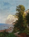 Summer day at Møns Klint, Denmark by Carl Frederik Peder Aagaard