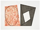 Frames and Ellipses (A, B and C) (3 works) by Robert Peter Mangold