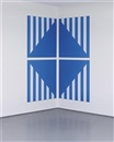 PVC bleu pour un angle (in 4 parts) by Daniel Buren