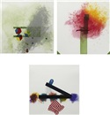 Label 5, 6, and 7 (from Label 5-8 series (3 works)) by Richard Tuttle