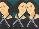 Gray ribbon from Alex and Ada, the 1960s to the 1980s by Alex Katz