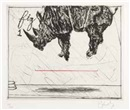 Three Rhinos: Fig 1. Crowd Pleaser by William Kentridge