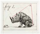 Three Rhinos: Fig. 2 Dunce by William Kentridge