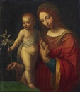The Virgin with child holding a branch of lilies by Bernardino Luini