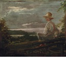 Country Lad on a Fence (Sketch from Nature; Boy Getting Over a Fence, Throg's Point, New York) by William Sidney Mount
