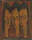 Three Heads by Angel Botello