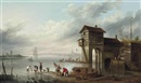 A view of the Sluice House at Liverpool by John Pennington