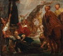 Biblical scene with heathens crucifying missionaries by Sir Peter Paul Rubens