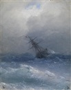 Ship in Storm by Ivan Konstantinovich Aivazovsky