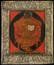 CHRIST ENTHRONED IN MAJESTY IN A SILVER-GILT BASMA