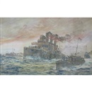 The Return of the Vindictive from Zeebrugge April 23rd 1918 by William McDowell