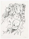 Dr. Huelsenbeck am Ende, pl. 40 (from Ecce Homo) by George Grosz